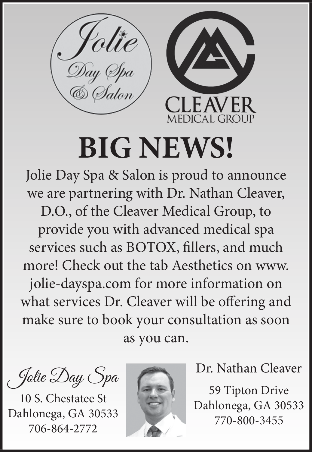 Proud to Announce Partnering With Dr  Nathan Cleaver in